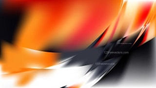 Abstract Orange Black and White Background Design