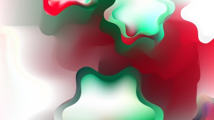 Abstract Red Green and White Background Vector Illustration