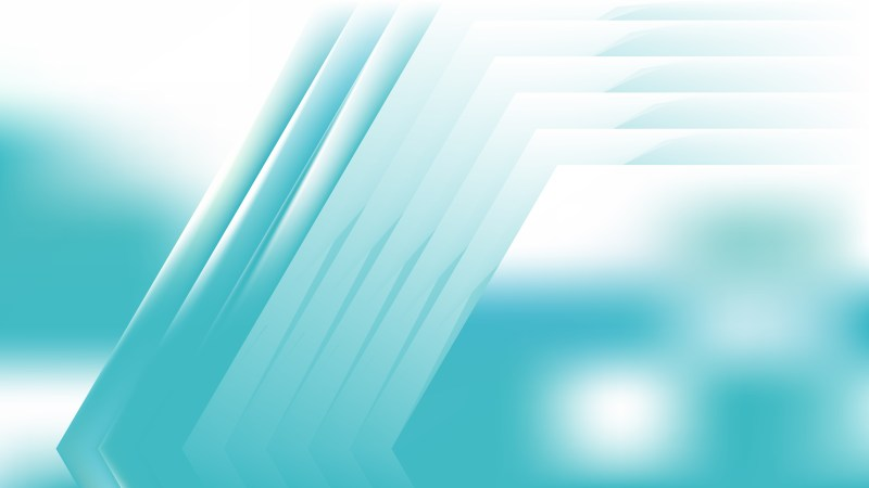 Abstract Turquoise and White Graphic Background