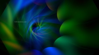 Black Blue and Green Fractal Background