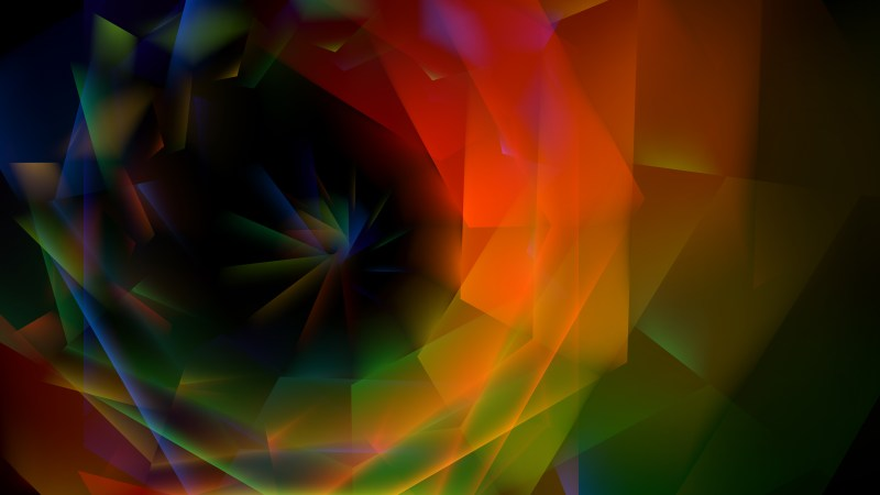 Black Red and Green Fractal Background