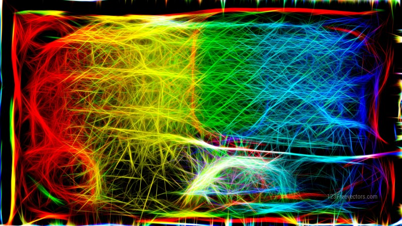 Abstract Cool Fractal Light Lines Background