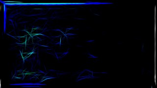 Abstract Cool Blue Fractal Glowing Chaotic Light Lines Background Image