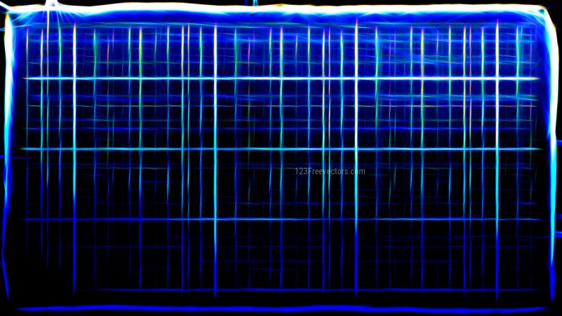 Abstract Cool Blue Fractal Light Lines Background Image