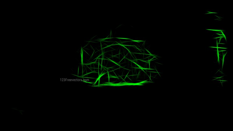 Abstract Cool Green Fractal Light Lines Background