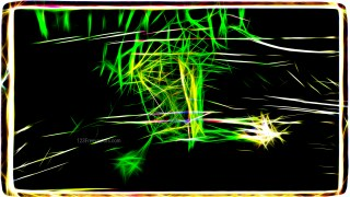 Abstract Cool Green Fractal Glowing Chaotic Light Lines Background
