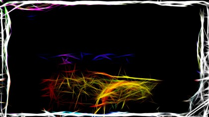 Abstract Orange and Black Fractal Light Lines Background