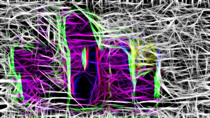 Abstract Purple Black and White Fractal Light Lines Background
