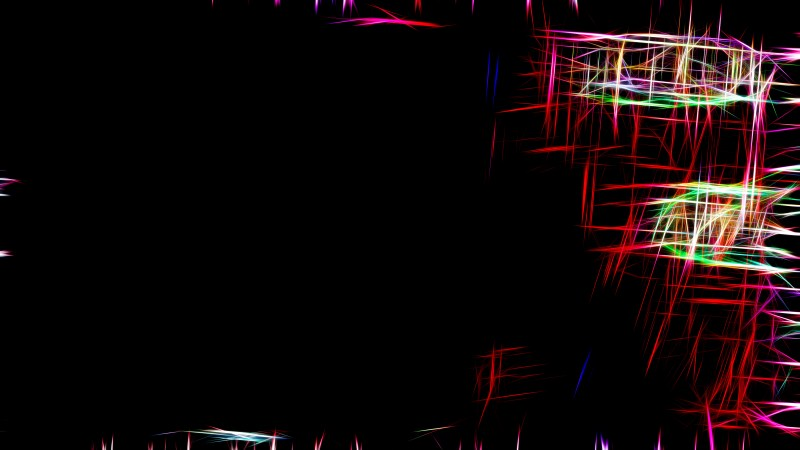Abstract Red and Black Fractal Glowing Chaotic Light Lines Background