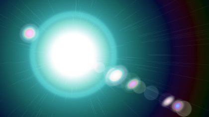 Black and Turquoise Lens Flare Light Background