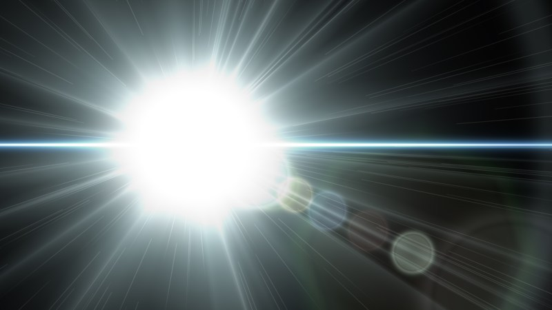 Blue Black and White Lens Flare Background