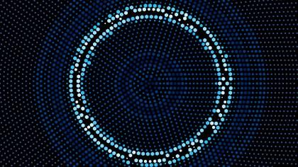 Black and Blue Radial Dot Background Illustrator