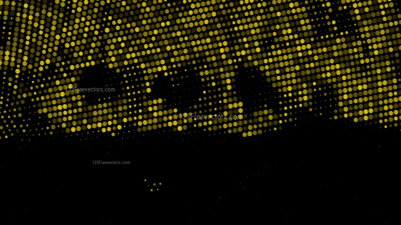 Black and Gold Dots Background