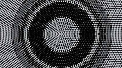 Black and Grey Circular Dotted Background Vector Image