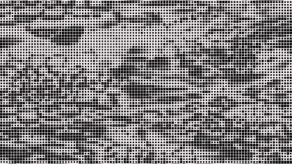 Black and White Halftone Dot Pattern Background