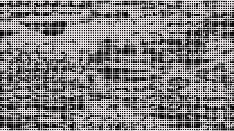 Black and White Halftone Dot Pattern Background