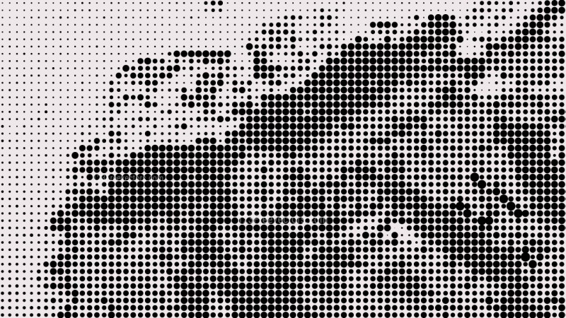 Black and White Halftone Pattern Background Graphic