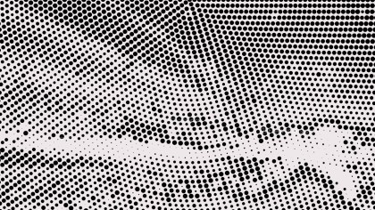 Black and White Halftone Dot Pattern Background Illustration