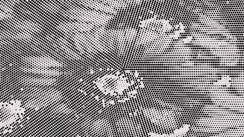 Black and White Halftone Dots Background