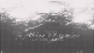Black and White Halftone Dot Pattern