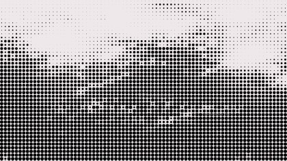 Black and White Halftone Dot Pattern