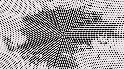 Black and White Circular Halftone Dot Background