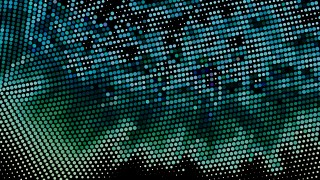 Black Blue and Green Halftone Pattern Background