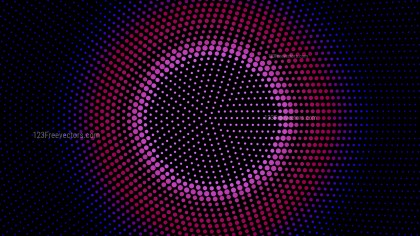 Black Red and Blue Circular Dot Pattern Background