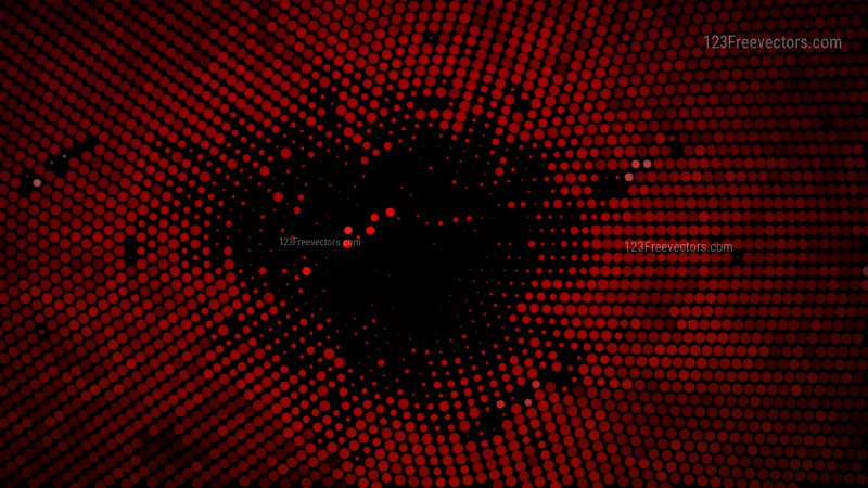Cool Red Halftone Dot Background