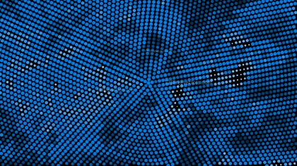 Dark Blue Circular Halftone Background