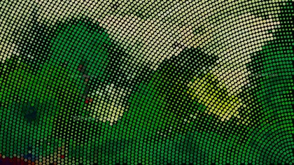 Green and Black Dot Pattern Background Vector Art