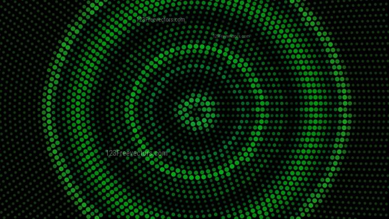 Green and Black Circular Dot Background Vector Image