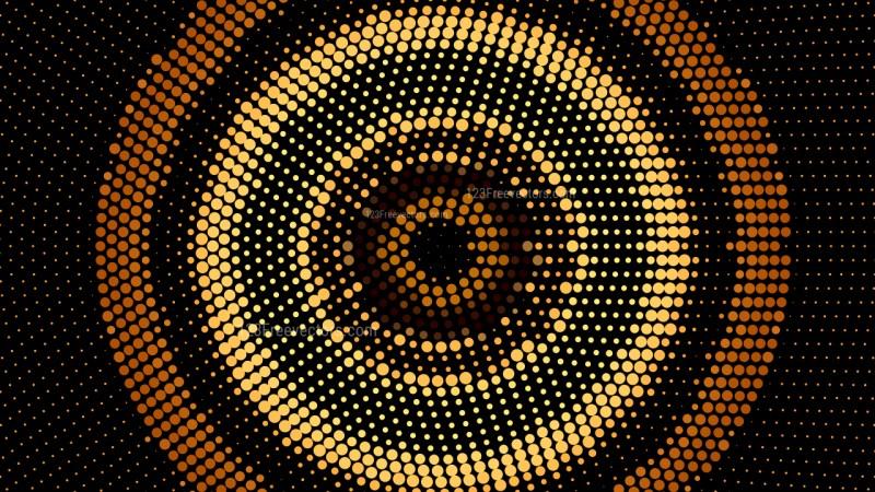 Orange and Black Circular Dot Background Vector Illustration