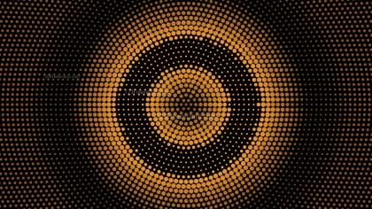 Orange and Black Circular Dot Background