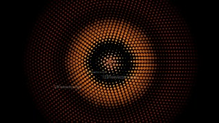 Orange and Black Circular Dots Background Illustrator