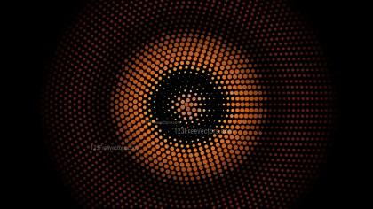 Orange and Black Circular Dots Background Illustrator