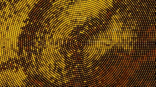 Orange and Black Circular Halftone Dots Background