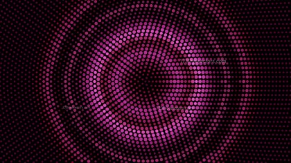 Pink and Black Radial Dot Background