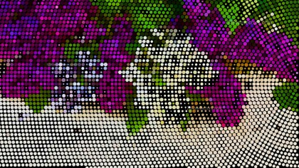 Purple and Green Dot Background
