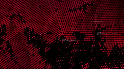 Red and Black Halftone Dot Pattern Illustrator