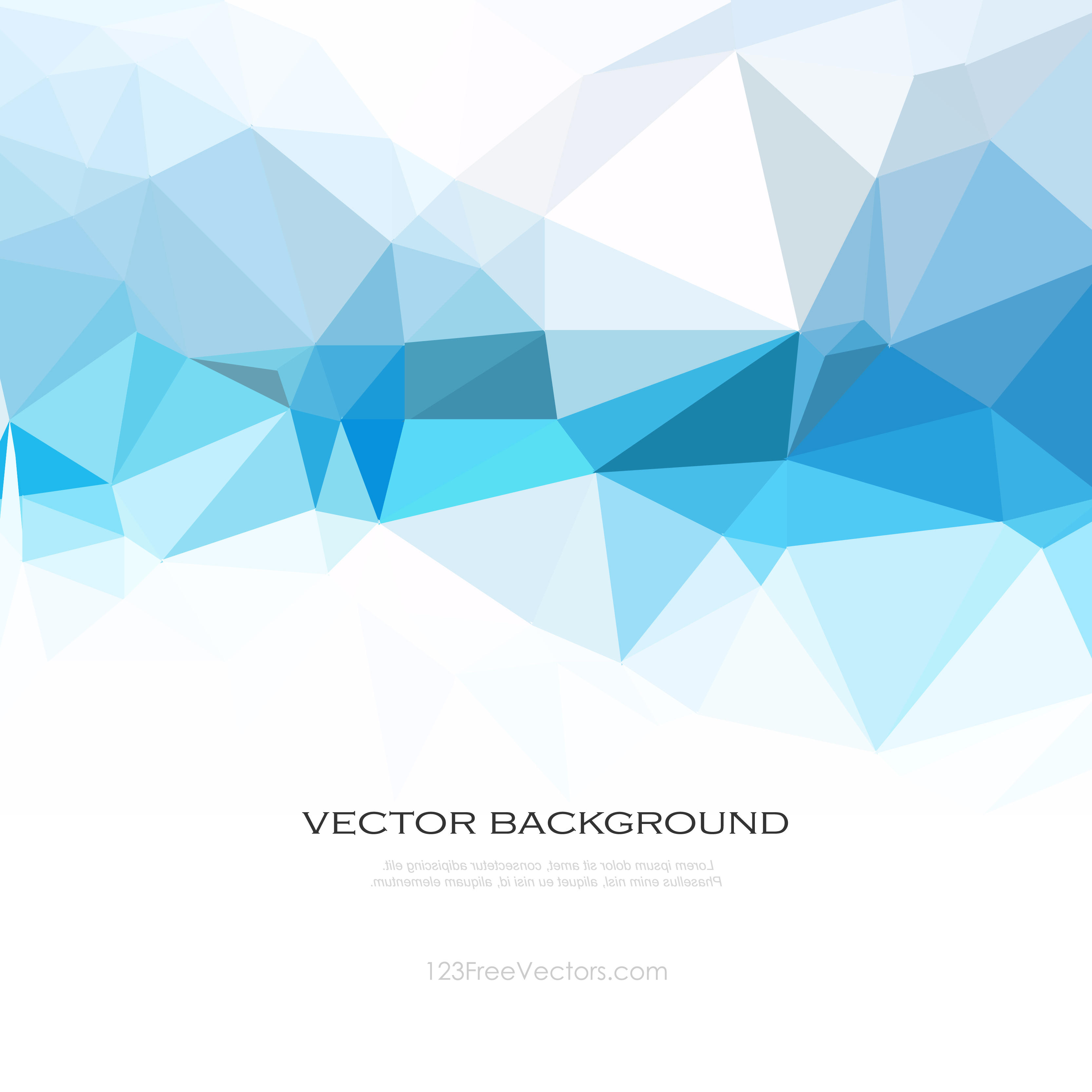 Abstract Light Blue Polygon Triangle Background