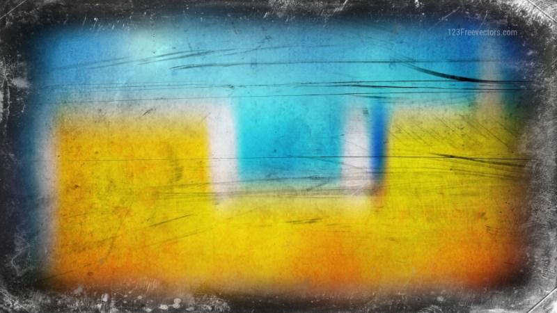 Blue and Orange Grunge Background