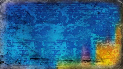 Blue and Orange Dirty Grunge Texture Background Image