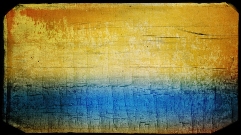 Blue and Orange Grunge Background Image