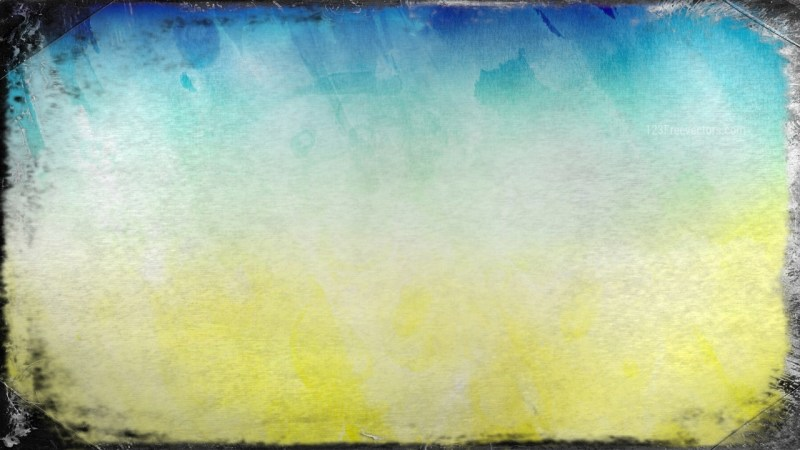 Blue and Yellow Grunge Background Image