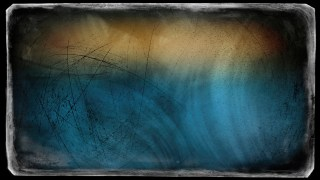 Blue Orange and Black Grunge Background Texture Image