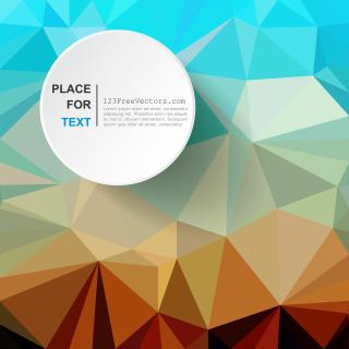 Abstract Light Blue and Red Polygonal Background Design