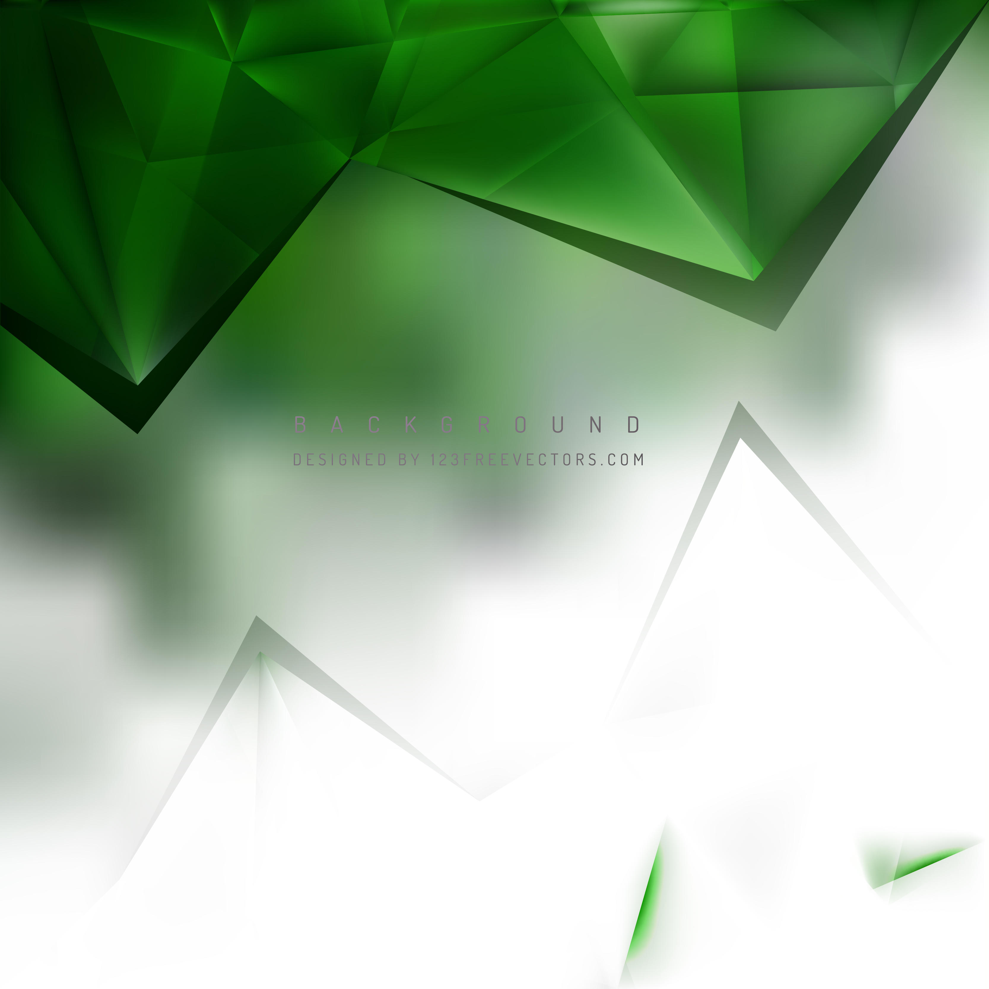 Abstract White Green Triangle Polygonal Background Design