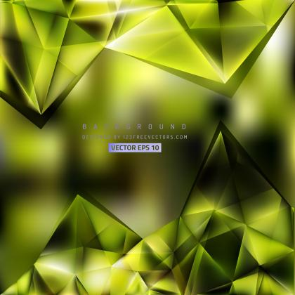 Abstract Yellow Green Geometric Triangle Background Design