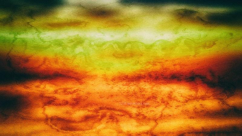 Orange and Green Grunge Texture Background